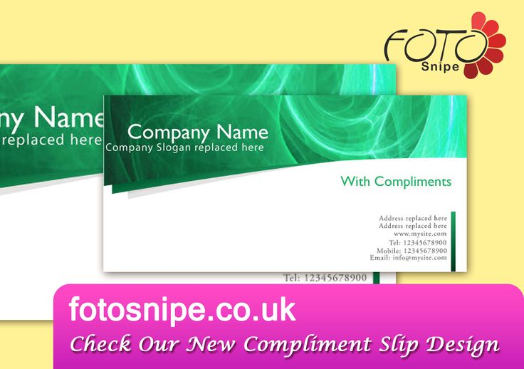 Compliment Slip  Brand  Identity    Compliments And