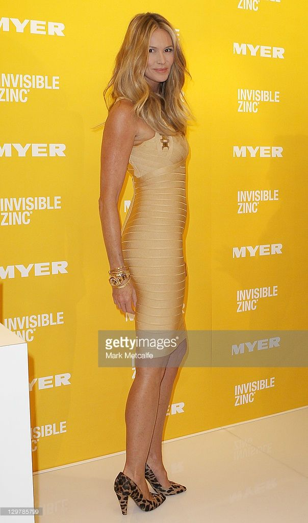 Australian model Elle Macpherson poses at a promotion for Invisible Zinc at Myer on October 21, 2011 in Sydney, Australia.
