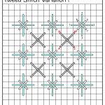 Tweed Stitch Variation 1 - Sheena's Sweet Stitches