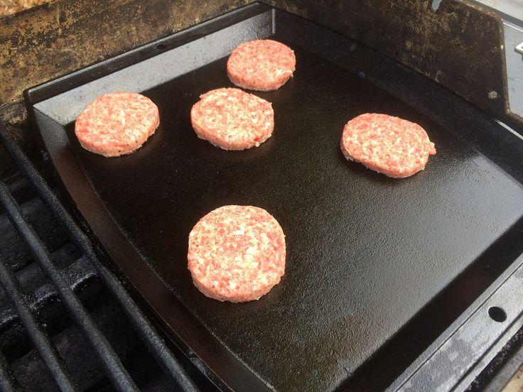 Sausage on a Weber Griddle