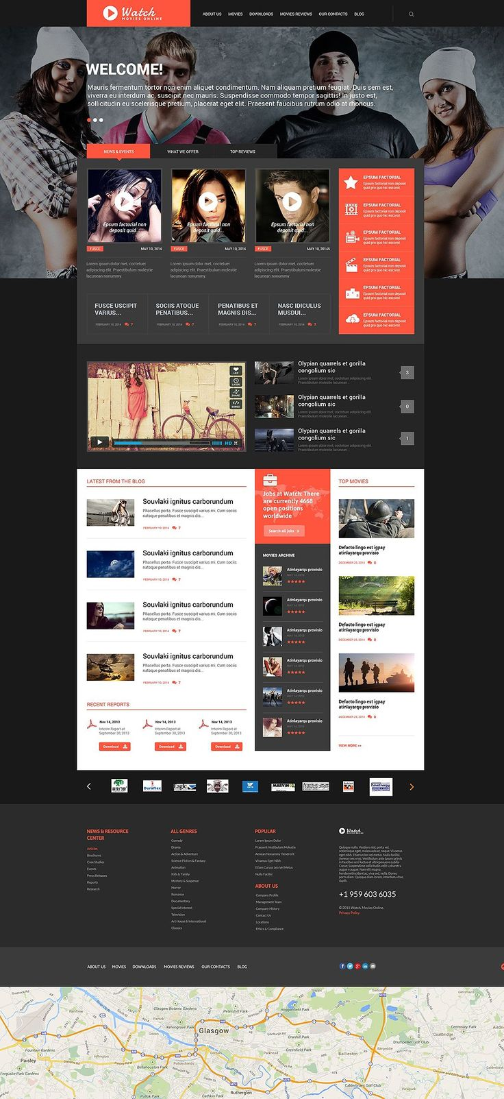 Be Kind, Rewind, with these Movie News & Movie Streaming Site WordPress Themes - Watch (WordPress template) Item Picture