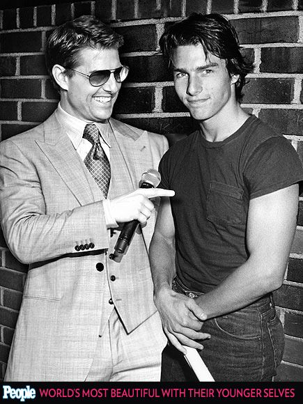 PEOPLE's 'Most Beautiful' Celebrities Posing with Their Younger Selves| Hmmm I still think Tom Cruise is SO flippen hot