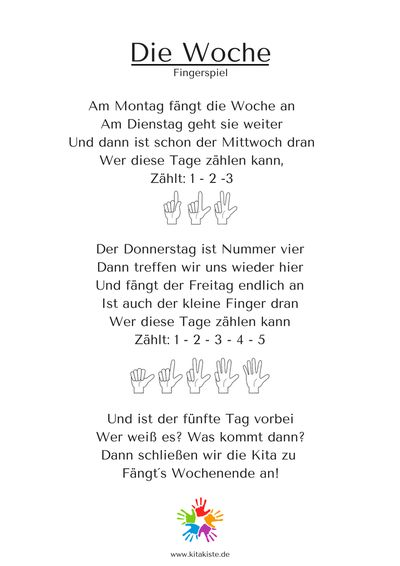 Start  KitaKiste, Lieder für Kita und Grundschule