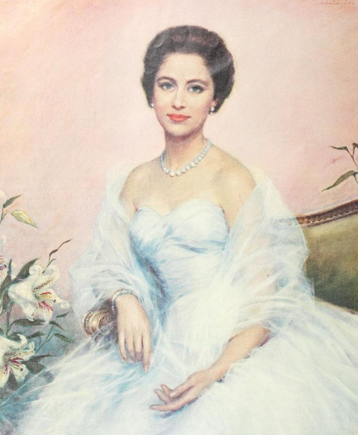 antiqueroyals:  Painting of Princess Margaret