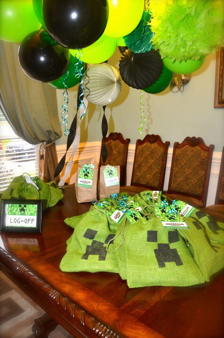 Mine craft birthday ideas - Minecraft Party Bags Minecraft Birthday Invitationsminecraft Birthday Ideasbirthday