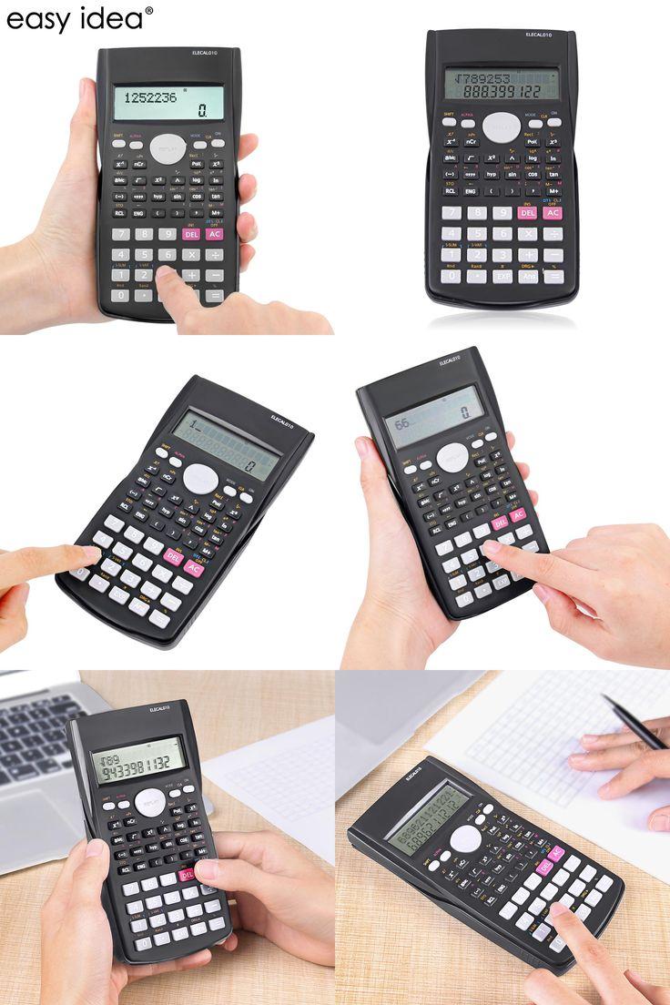 [Visit to Buy] EASYIDEA Scientific Calculator 12 Digits Student Calculadora 240 Multi-function Calculator Cientifica 2 Line LCD Display #Advertisement