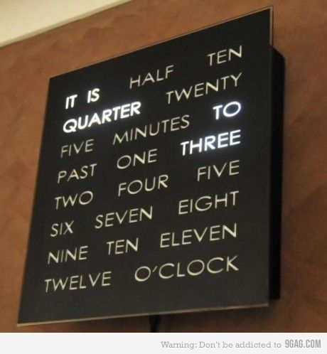 cool clockDecor, Ideas, Wall Clock, Awesome Clocks, Stuff, Coolest Clocks, Words Clocks, Things, Products