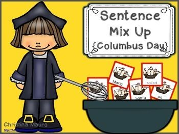 Christopher Columbus themed sentence mix ups are a great way to practice reading fluency and sight words. These can be used in a small group or in a writing station. I have included 5 sentences for your students to build. - Christopher Columbus was a great explorer.- A compass tells you the direction.- Columbus sailed on the Santa Maria.- The king and queen helped Columbus.- In 1492 Columbus sailed the ocean.There are 2 different recording sheets for them to write the sentences on.Enjoy this…
