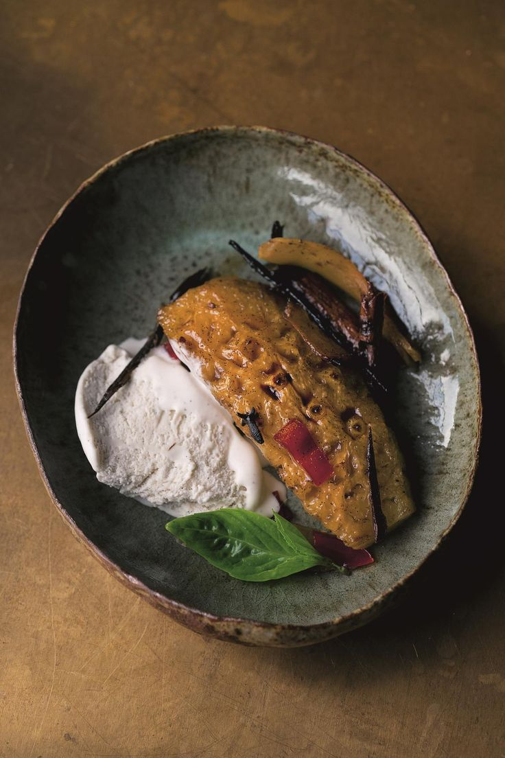 Roasted Pineapple with Tamarind and Chilli, and Coconut Ice Cream - The Happy Foodie