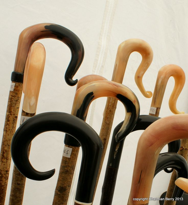 These sticks are made for walking....... by Charmian S Berry - Wonderful walking sticks on sale at a Country Show