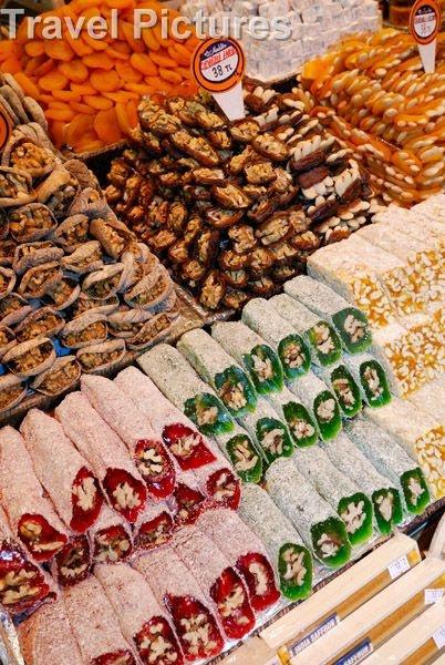 ✿⊱╮Istanbul, Turkey: Sweets & Turkish Delight (lokum) At The Spice Bazaar