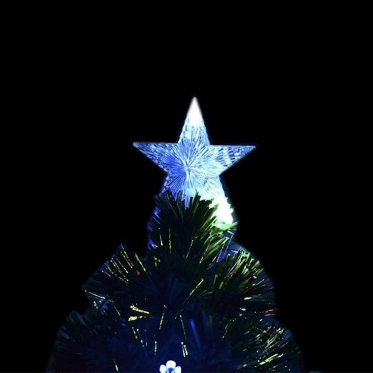 HOMCOM 3ft (90cm) Fibre Optic Artificial Christmas Tree w. Snowflake Lights | aosom.co.uk