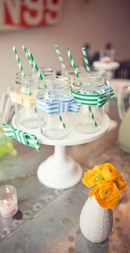 Party deco jars...simple and low cost! - Γυάλινα βαζάκια...απλά και οικονομικά!