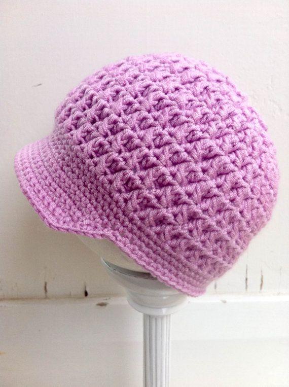 Crochet Hat Pattern Textured Newsboy Pattern by bubnutPatterns