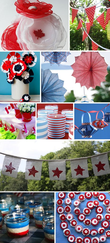 Patriotic Party Decorations, perfect for an #Olympics2012 party! #TeamUSA