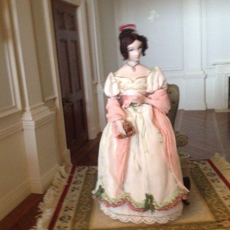 Deidre Spann - figure dressed in 1820's fashion