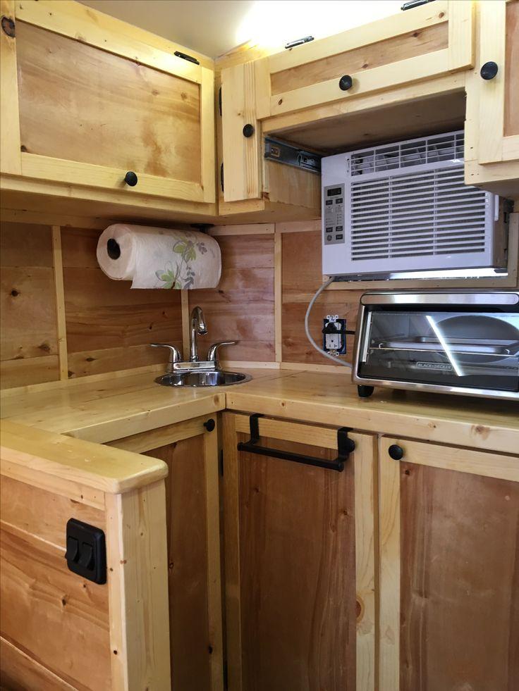 Best 10 cargo trailers ideas on pinterest cargo trailer camper cargo trailer conversion and - Houses attic enclosed kitchen ...
