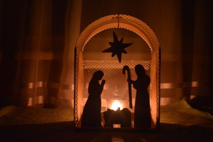 поделка на рождество: вертеп своими руками МК
