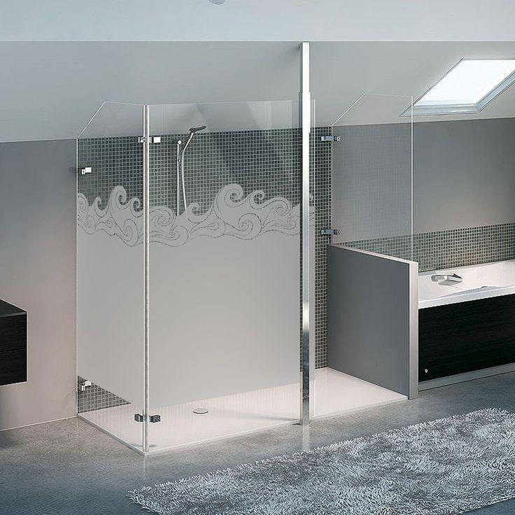Les 68 meilleures images du tableau paroi de douche sur pinterest autocollants decoration - Film salle de bain ...
