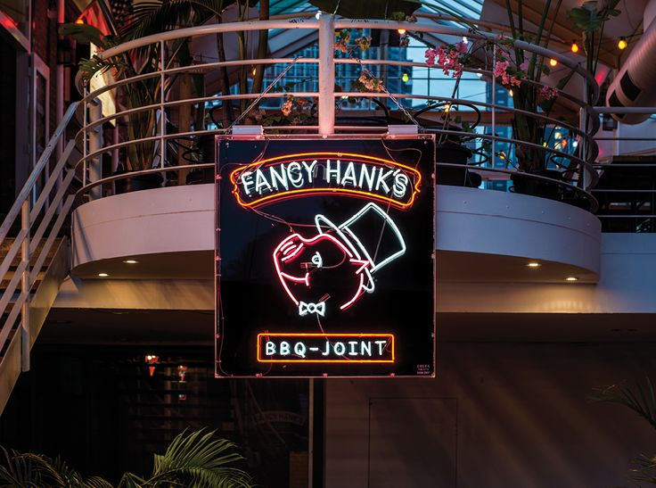 Fancy Hanks BBQ Joint Neon Sign