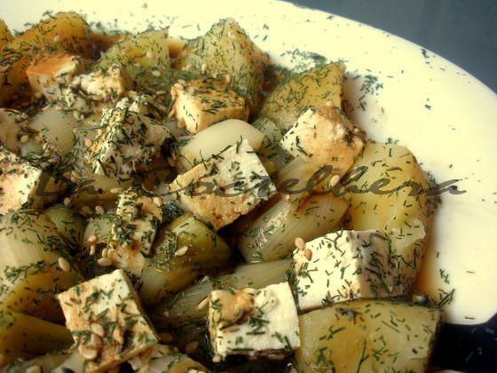 Guiso de tofu con puerros a las finas hierbas