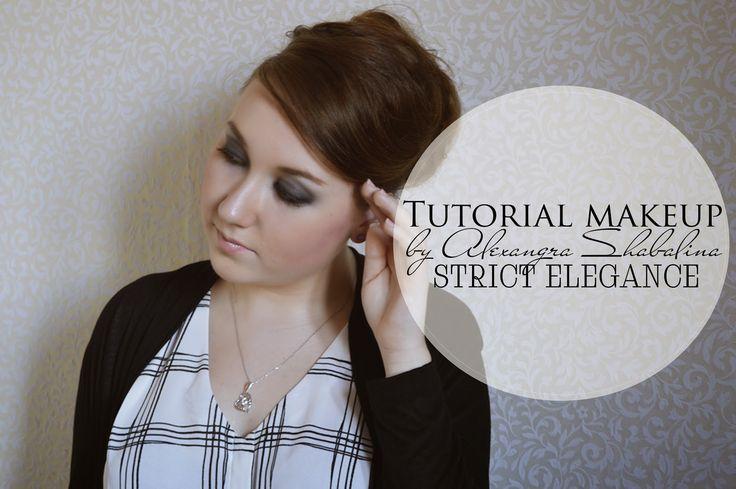 JulieMcQueen: Tutorial makeup by Alexandra Shabalina #beauty #fashion #tutorial #makeup #hairstyle #elegant #black #sexy