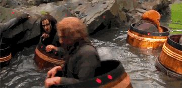 This made me laugh really hard... Kili falling into stream GIF ^^ Click pic to watch