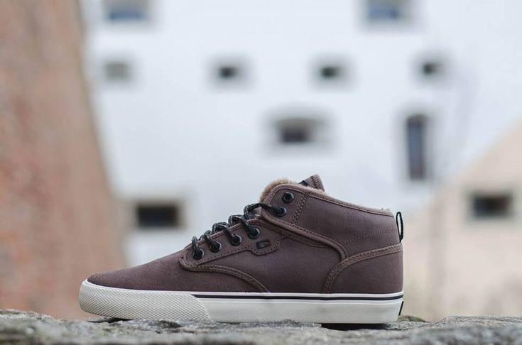 Globe Shoes, Globe Motley Mid Fur, Globe Motley Mid Dark Brown/ Off White/ Fur