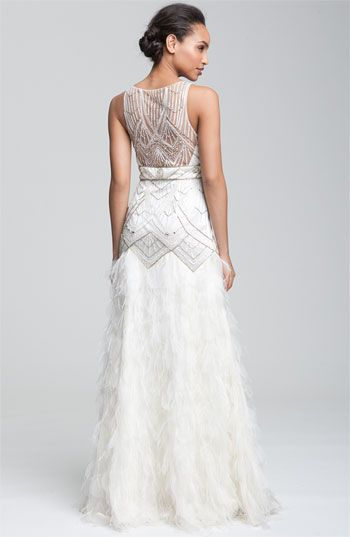Sue Wong 'Feather' Beaded Gown: Beads Gowns, Wedding Dressses, Ideas, Ball Gowns, Sue Wong, Wedding Dresses, Feathers Beads, Art Deco, Wong Feathers