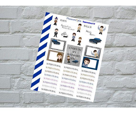 Supernatural TV Planner Stickers, Planning Stickers, #supplies @EtsyMktgTool http://etsy.me/2jjOTVx
