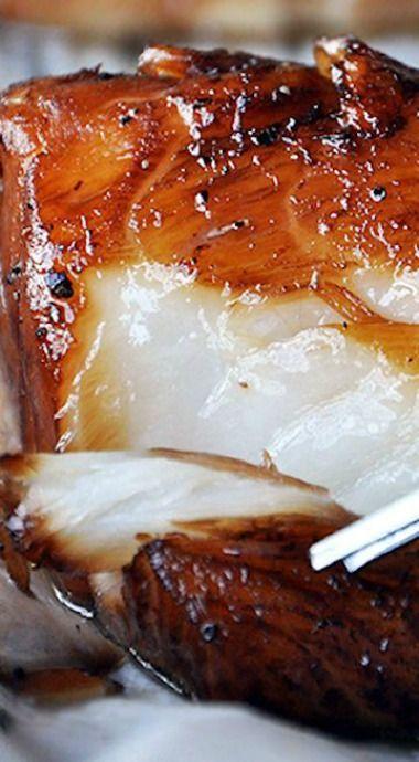 This looks amazing!   baked honey marinated cod