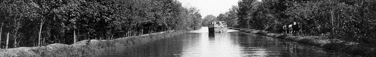 Historic Shot of Canal Boat on the Canal.  The mule drawn boat ride through the locks is really something.