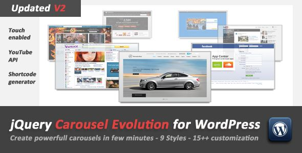 Cool carousel plugin - jQuery Carousel Evolution for WordPress - CodeCanyon Item for Sale - $10