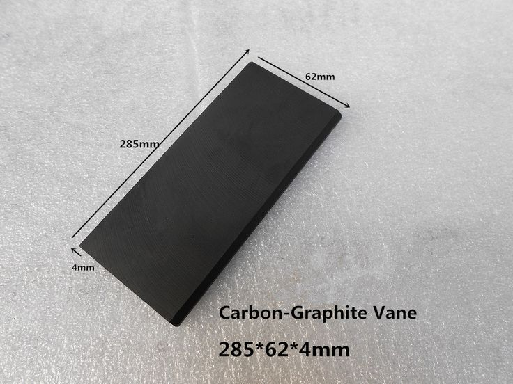 285*62*4mm  Carbon vanes , Vane Blades  ,graphite sheet plate   for Rotary compressor ,fuel tank counters