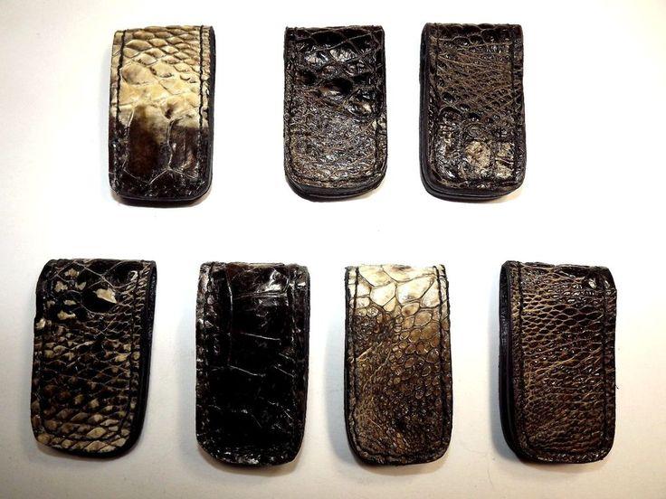 Men's Genuine Hand made Alligator Foot Super Strong Magnetic Money Clip #Handmade