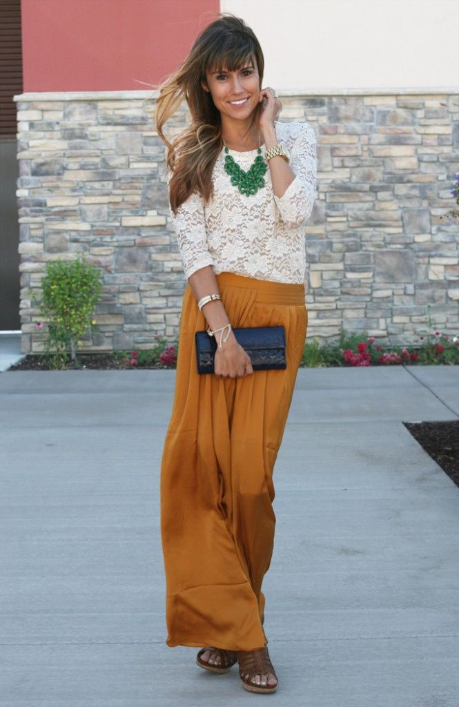 11 best maxi skirt maxi impression images on pinterest for Mustard colored costume jewelry