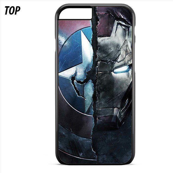 Civil War Captain America Shield Ironman Face For Iphone 6 | 6S Plus Case