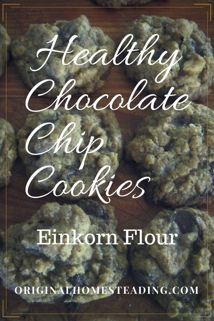 Healthy Chocolate Chip Cookies made with Einkorn Flour and organic ingredients!!! These are a household staple in our family!!