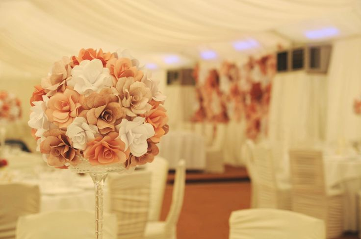 In love with my vintage paper roses centerpieces ♡ Wonderful wedding, everlasting memories. Love, Alina Papercrafted ♡