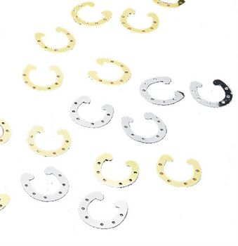 Horseshoe Party Confetti , country Western bachelorette party decoration $1.99