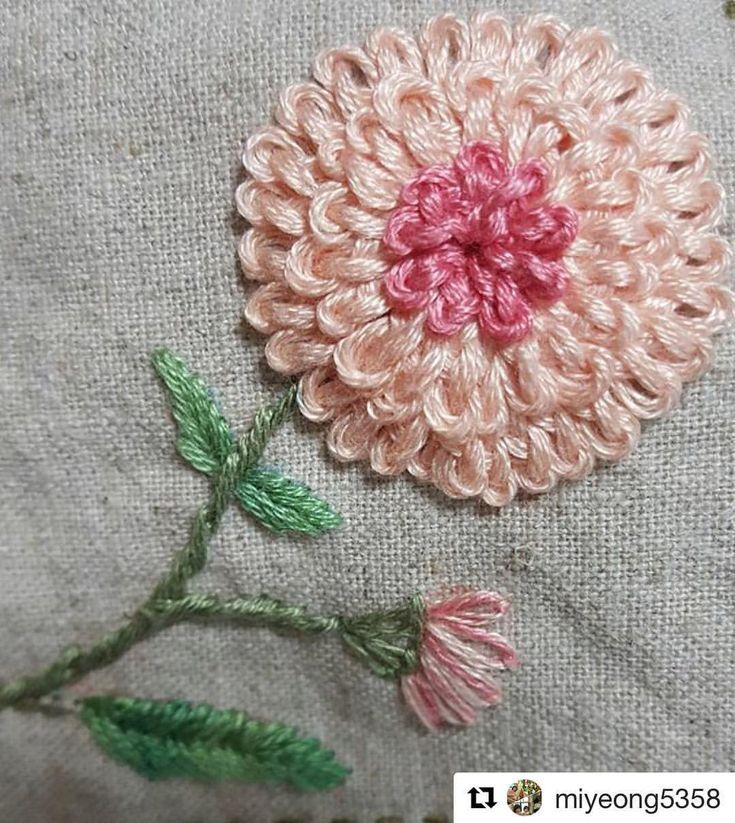 """2,728 curtidas, 23 comentários - Babi Bernardes (@bordados_e_bordadeiras) no Instagram: """"@miyeong5358 #embroidery #broderie #bordado #ricamo #handembroidery #needlework"""""""