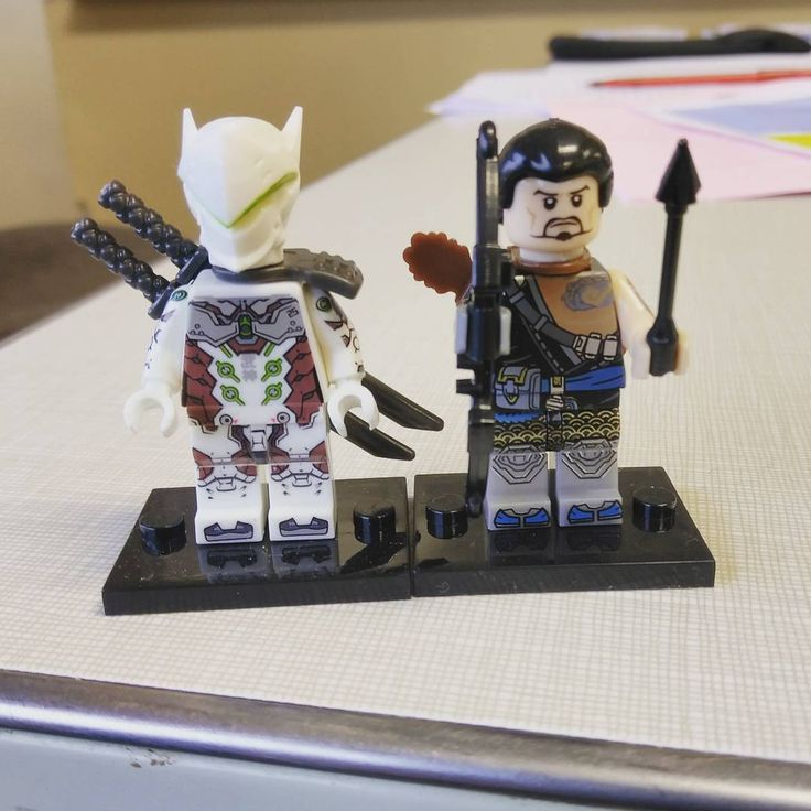 Genji and Hanzo protecting my desk at work  #overwatch #lego #genji #hanzo #gaming #gamer #twitch  Twitch.tv/drafroandhistrustyfrofork