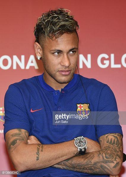 Neymar Jr attends the press conference for Rakuten - FC Barcelona Global Partnership Launch on July 13, 2017 in Tokyo, Japan.