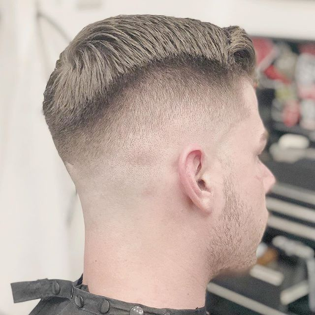 WEBSTA @josephstevensbarber Crispy clean on man like Mitch down to the bone with foils and styled through with @kingbrownpomade Matt Pomade