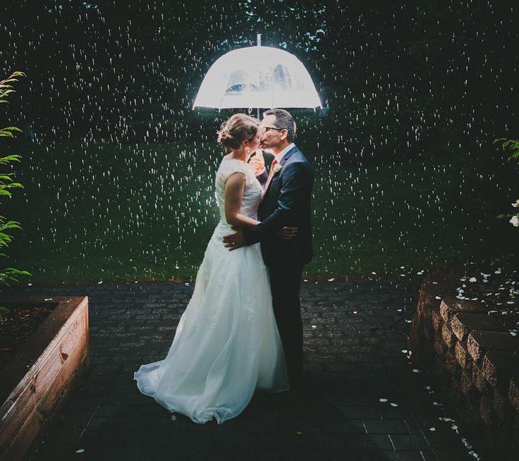 Give me a rainy wedding any day     . . . . #thebrigham #northlandweddingphotographer #wedding #rainywedding #umbrella #bride