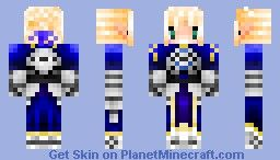 Saber from Fate/Stay Night Minecraft Skin