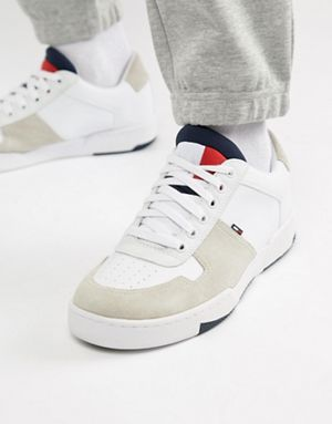 best service f24c4 db7f6 Tommy Jeans basket sneaker in white. Tommy Jeans basket sneaker in white Mens  Trainers, Shoes With ...