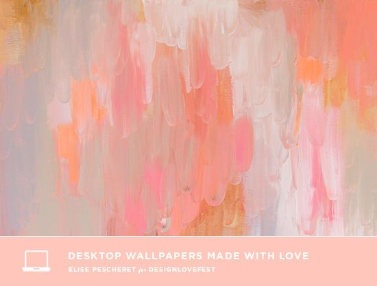 DRESS YOUR TECH: abstract paintings by Elise Pecheret || designlovefest.com