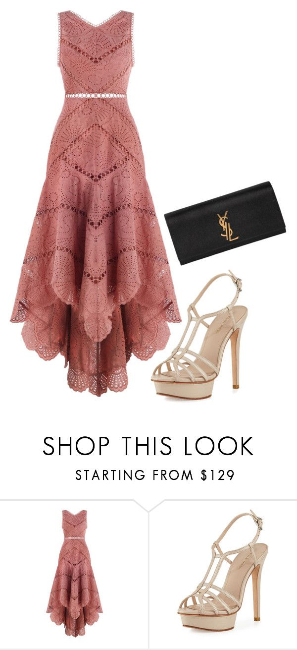 """""""Untitled #4313"""" by nantommo ❤ liked on Polyvore featuring Zimmermann, Pelle Moda and Yves Saint Laurent"""