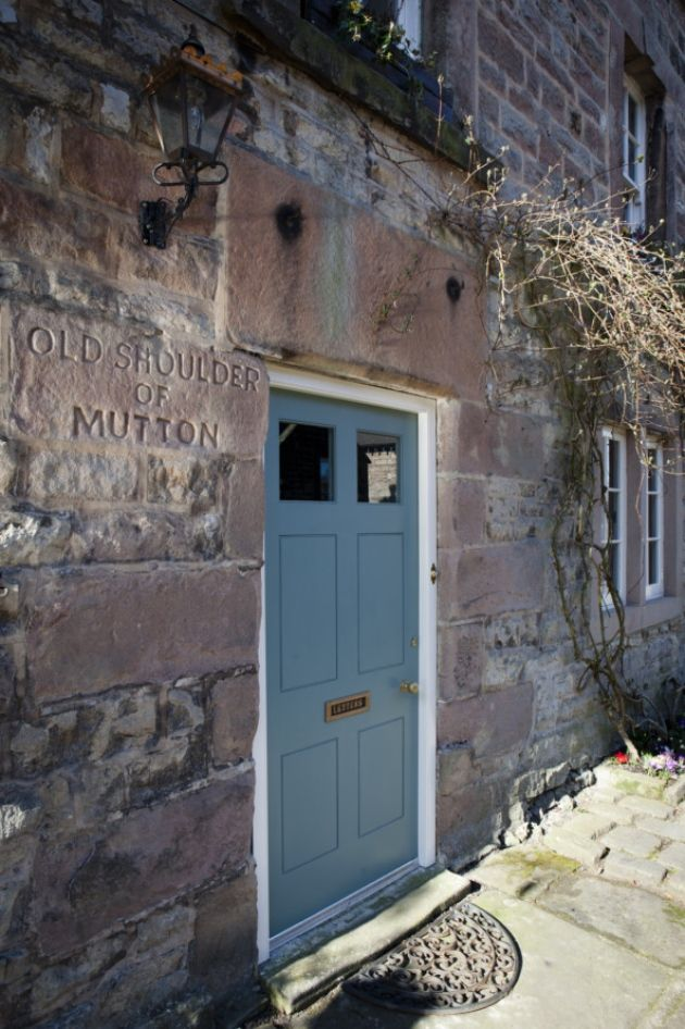 The Old Shoulder Of Mutton Winster Front Door Painted In